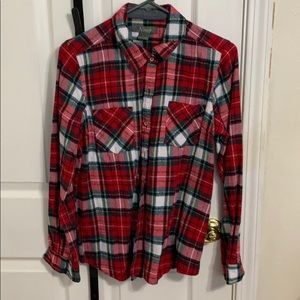 Natural Reflections flannel top